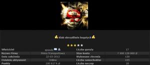 Klub Obrzydliwie Bogatych - profil gracza